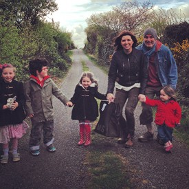 Here we are with our little boy Oisín and our best friends' 3 little girls down in Tuosist, Co. Kerry
